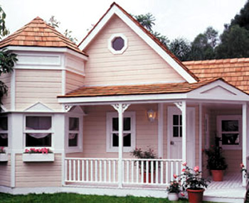 This is my dream mini-mansion.  I'd get this baby tricked out to be alike a real house.