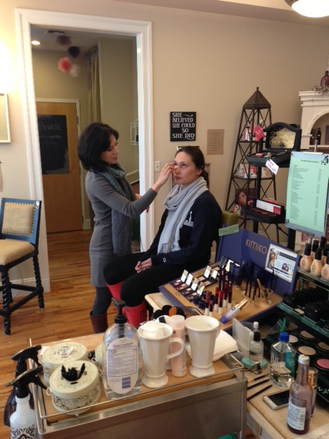 Moi Getting My Makeup Done by Kimiko's Founder Danielle Vincent at Luxe in Hoboken